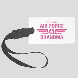 Proud Air Force Grandma W [pink] Large Luggage Tag